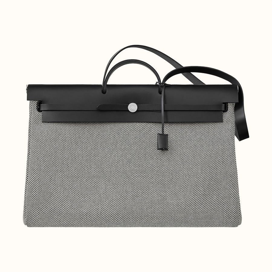 Сумка Hermes Zip 50 retourne cabine bag (Écru/Noir/Noir)