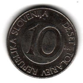 Словения 10 толаров 2004