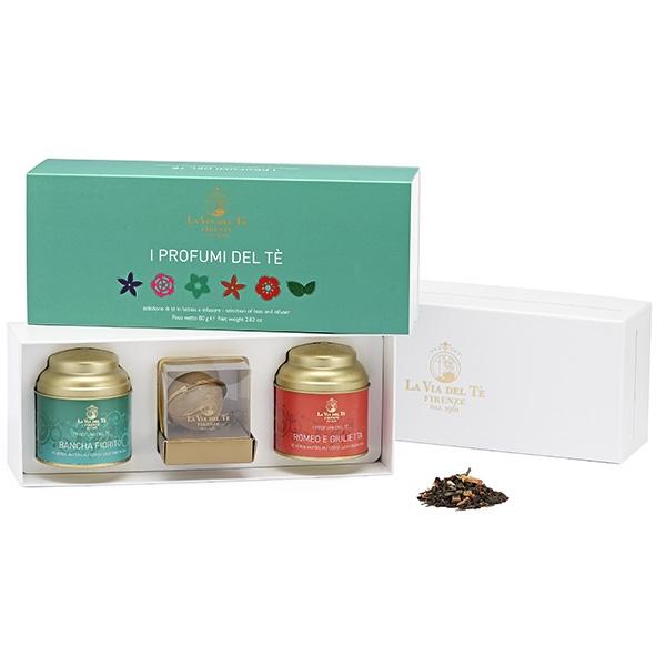 GFB32 Подарочный чайный набор Ромео и Джульетта  40 г и Банча цветочная  40 г. Confezione regalo I profumi del te, La via del te
