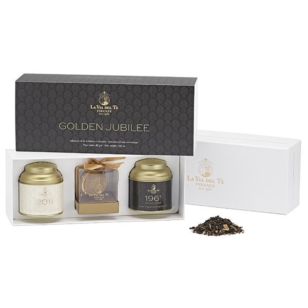 GFB33 Подарочный чайный набор: Чай черный 1961 40 г и Чай зеленый 2011 40 г . Confezione regalo Golden Jubilee, La via del  te