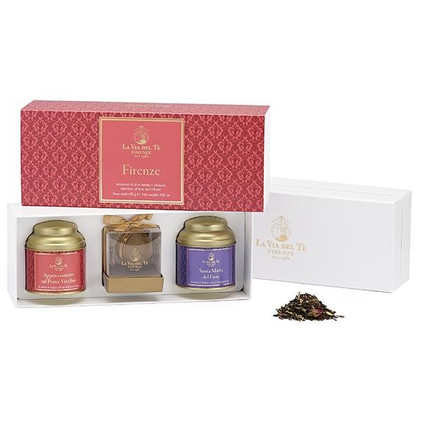 GFB34 Подарочный чайный набор Свидание на старом мосту 40 г и Санта Мария дель Фиоре 40 г. Confezione regalo Firenze, La via del  te