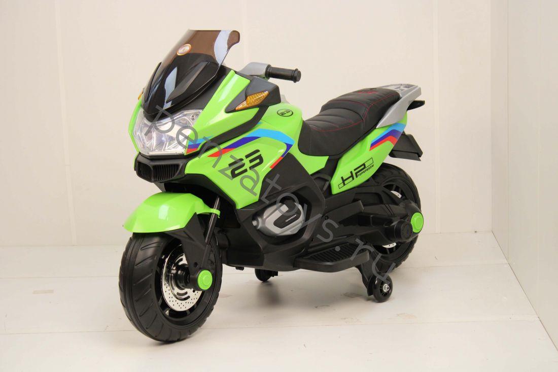 Электромотоцикл детский H222HH с приставными колесами