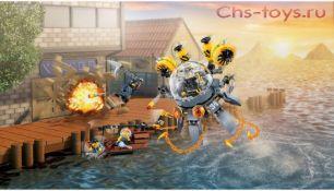Конструктор Lari Ниндзя Летающая подводная лодка 10725 (70610) 368 дет
