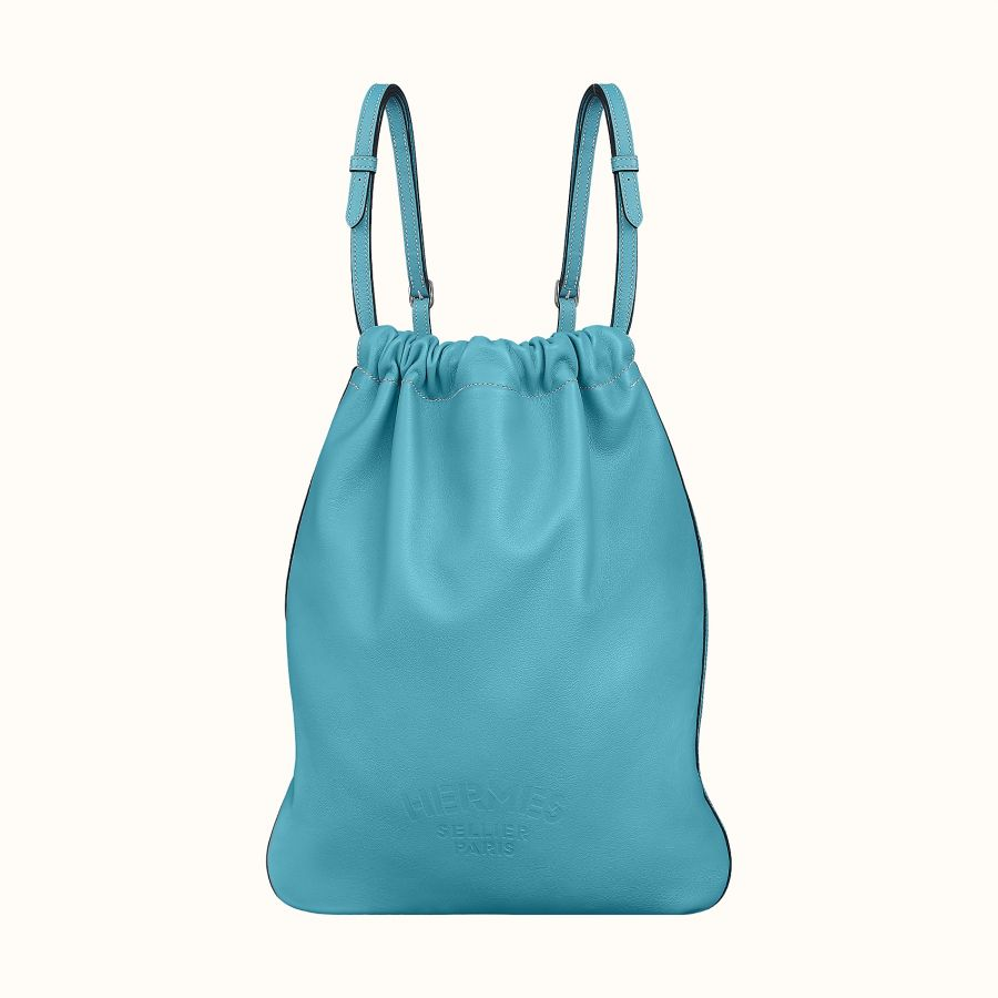 Сумка Hermes Bridado backpack (Bleu Du Nord)