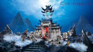 Конструктор Lari Ниндзя Храм Последнего великого оружия 10722 (Movie 70617) 1449 дет
