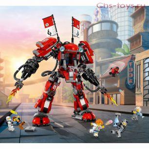 Конструктор Lari Ниндзя Огненный робот Кая 10720 (Movie 70615) 980 дет