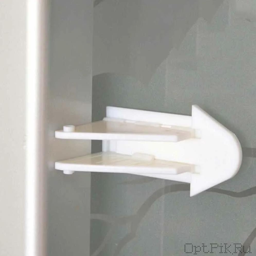 Блокиратор треугольный для раздвижных дверей шкафа купе и окон