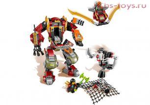 Конструктор Lari Ниндзя Робот-спасатель 10525 (70592) 454 дет.
