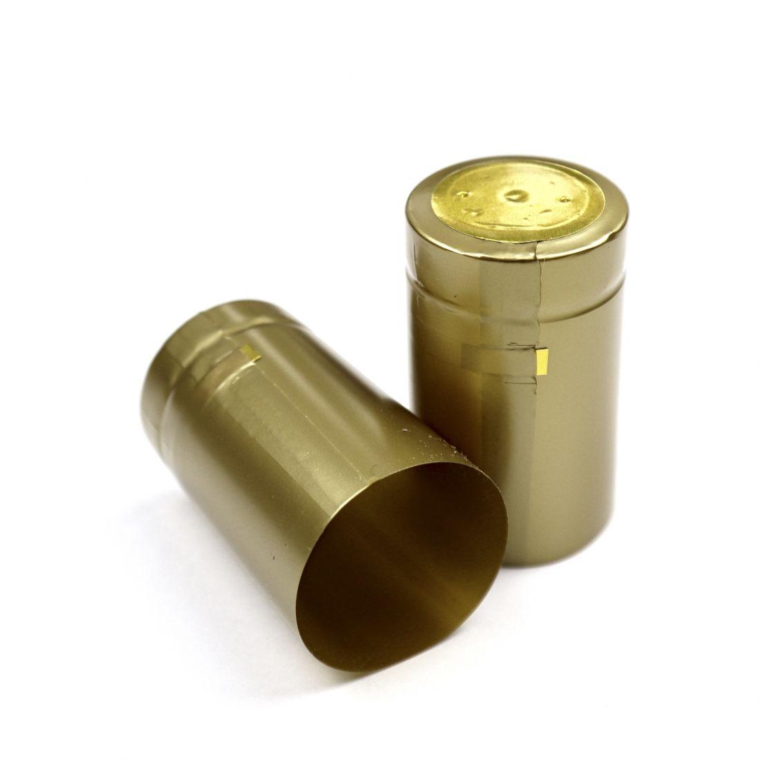 Термоусадочный колпачок золотой 50х30 мм, (10 шт)