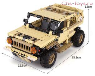Конструктор MOULD KING Военный Hummer с ДУ 13009  535 дет