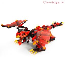 Конструктор MOULD KING Огненный дракон с ДУ 13019 485 дет