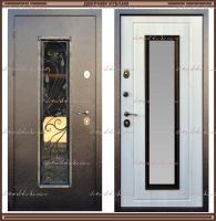 Входная дверь AURUS Сандал белый со стеклопакетом 100 мм  Россия