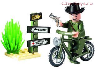 Конструктор Brick CombatZones Секретный агент 20 дет