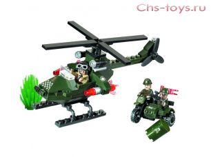 Конструктор Brick CombatZones Вертолет 119 дет