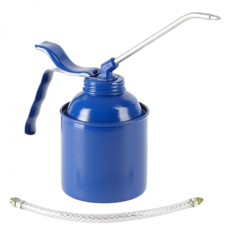 Масленка 500 мл, сталь, синяя Насос из латуни, шланг и трубка (6 шт) 05225