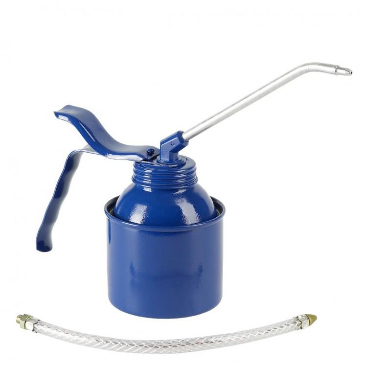 Масленка, 250 мл, сталь, синяя, латунный насос. С трубкой и шлангом (6 шт) 05223