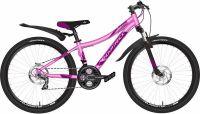 """Подростковый велосипед Novatrack 24"""" KATRINA алюм.рама 12"""" Розовый (140704)"""