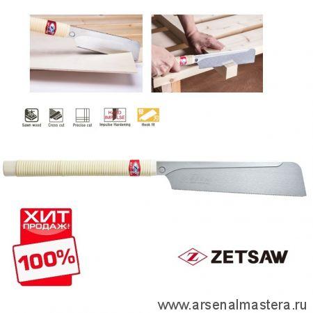 Акция! Минус 15% Японская пила обушковая универсальная Dozuki Fine 240 мм 25 tpi 0,3 мм деревянная рукоять ZetSaw Z.07121 ХИТ!