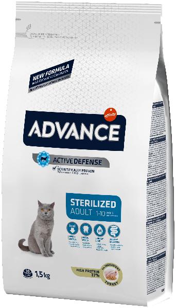 Сухой корм для стерилизованных кошек Sterilized с индейкой и ячменём 1.5 кг