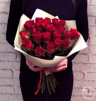 Букет из 25 красных роз по 80 руб. (40 см.) (АКЦИЯ)