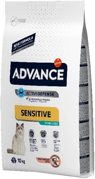Сухой корм для стерилизованных кошек Advance Sterilized с лососем и ячменём 10 кг