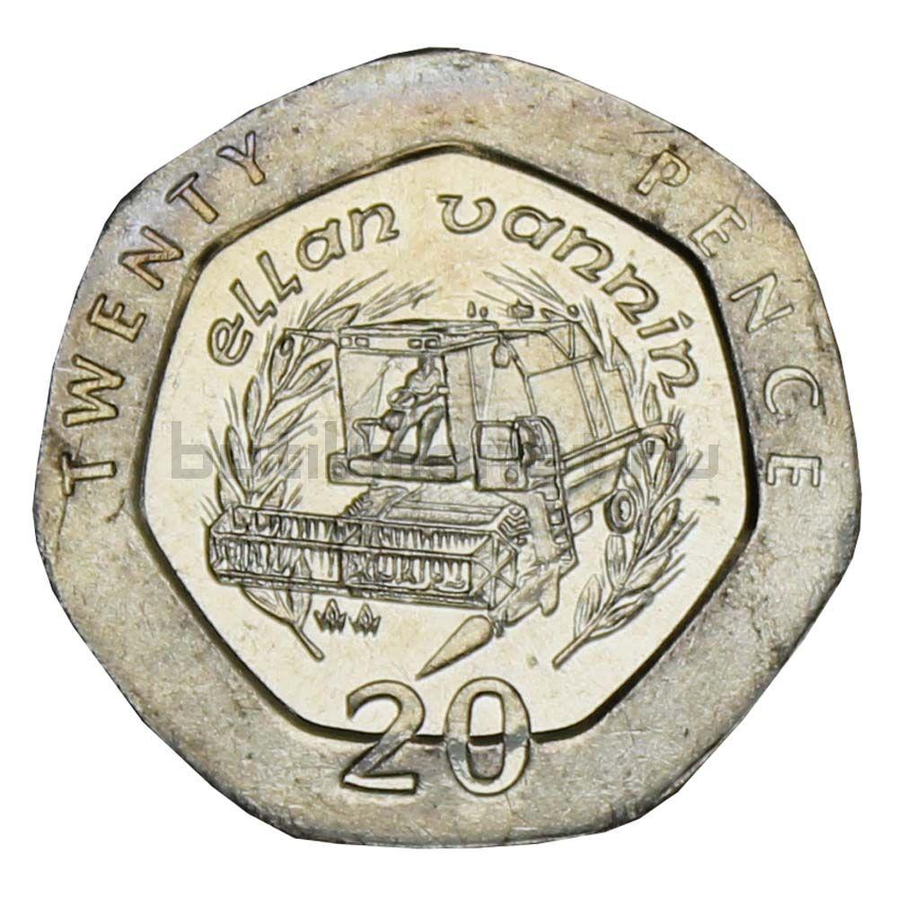 20 пенсов 1993 Остров Мэн