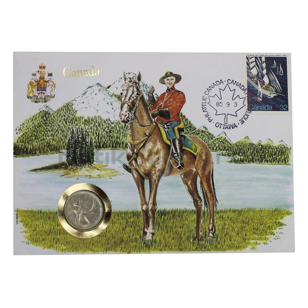 25 центов 1974 Канада (В буклете)