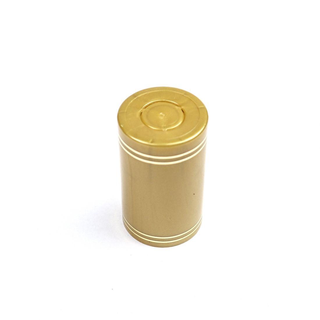 Полимерный колпачок с дозатором золотой, цельный (Гуала 58 мм), 10 шт