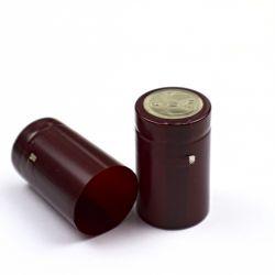 Термоусадочный колпачок бордовый 50х30 мм, (10 шт)