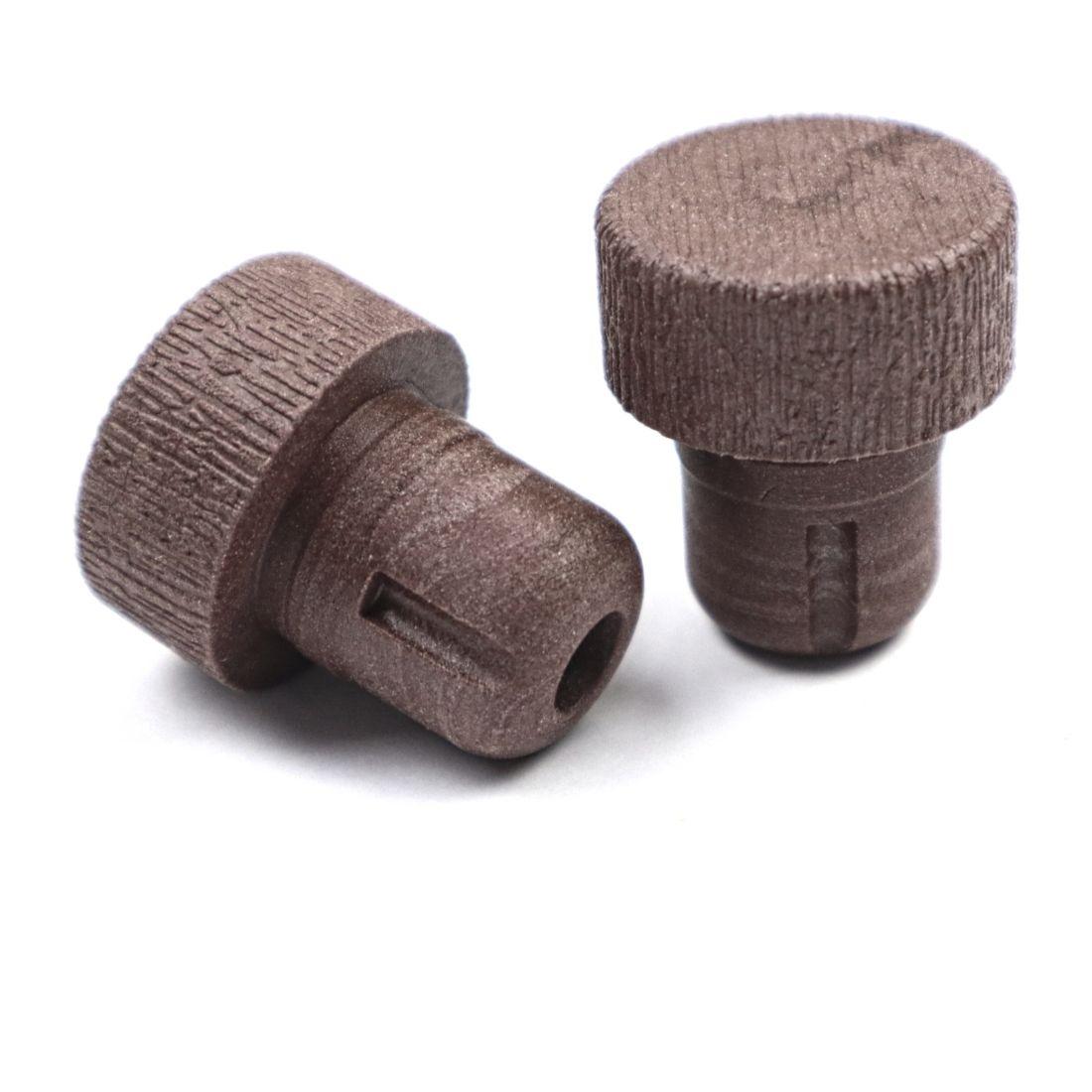 Пробка Камю, колпачок под дерево, коричневая, 18,5 мм (10 шт)