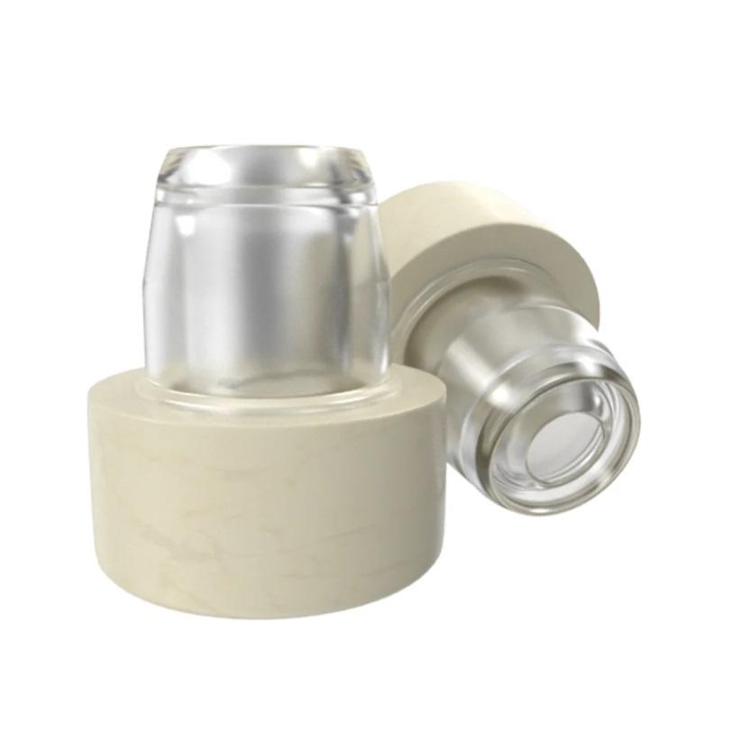 Пробка-лейка с дозатором Камю, бежевая, 18,5 мм (10 шт)