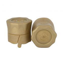 Пластиковая пробка на бутылку винт 28*18 мм, 10 шт (золото)