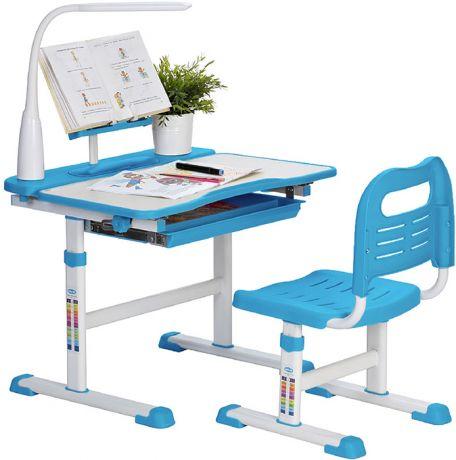 Комплект «Rifforma» SET-17 LD: парта + стул + подставка для книг + Лампа с дисплеем