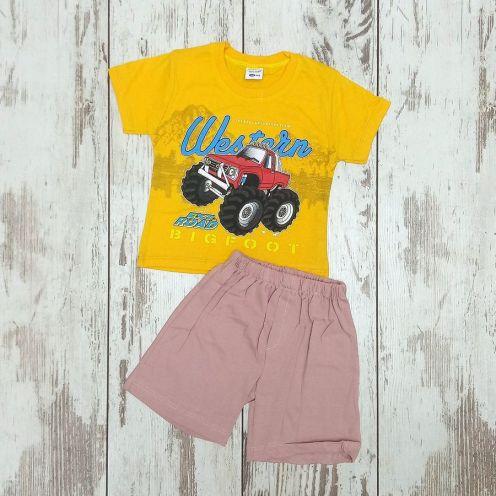 Костюм биг фут желтый: футболка, шорты