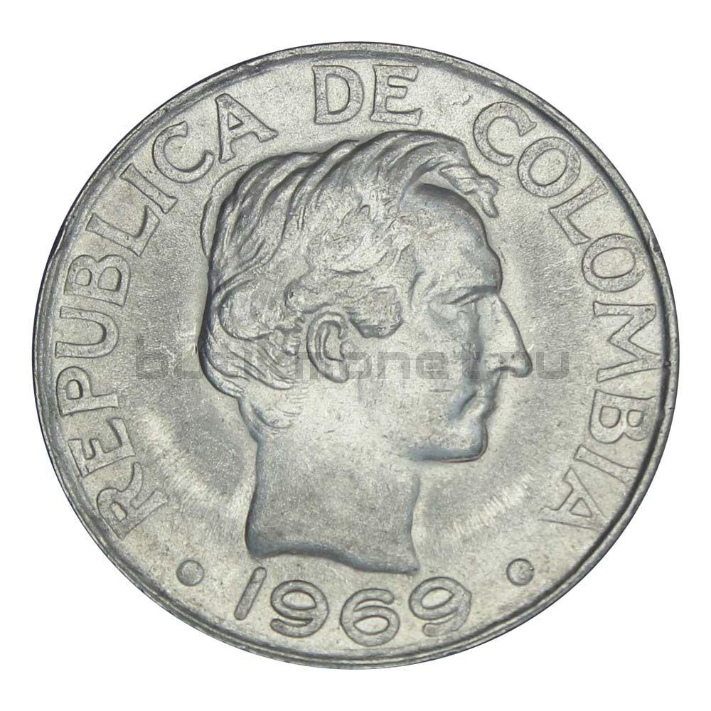 50 сентаво 1969 Колумбия