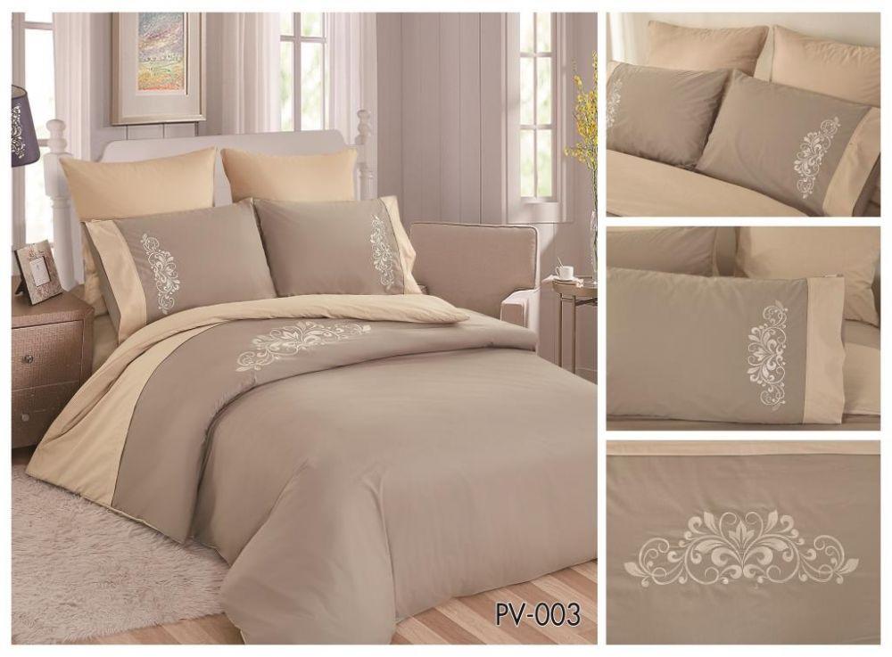 347e850fa41b5 Комплект постельного белья Перкаль с вышивкой 1.5-спальный Арт.PV-003-1