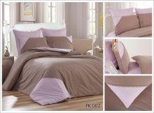 Комплект постельного белья Перкаль с кружевом  евро  Арт.PK-002-3