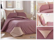 Комплект постельного белья Перкаль с кружевом  евро  Арт.PK-005-3