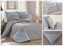 Комплект постельного белья Перкаль с кружевом  евро  Арт.PK-007-3