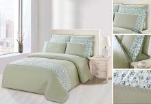 Комплект постельного белья  Сатин  с цветным кружевом  евро  Арт.SZV-001-3