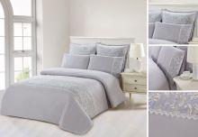 Комплект постельного белья  Сатин  с цветным кружевом  евро  Арт.SZV-006-3