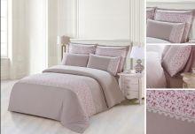 Комплект постельного белья  Сатин  с цветным кружевом  семейный  Арт.SZV-005-4