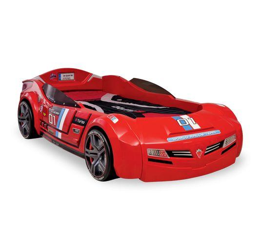 Кровать машина BITURBO, красный