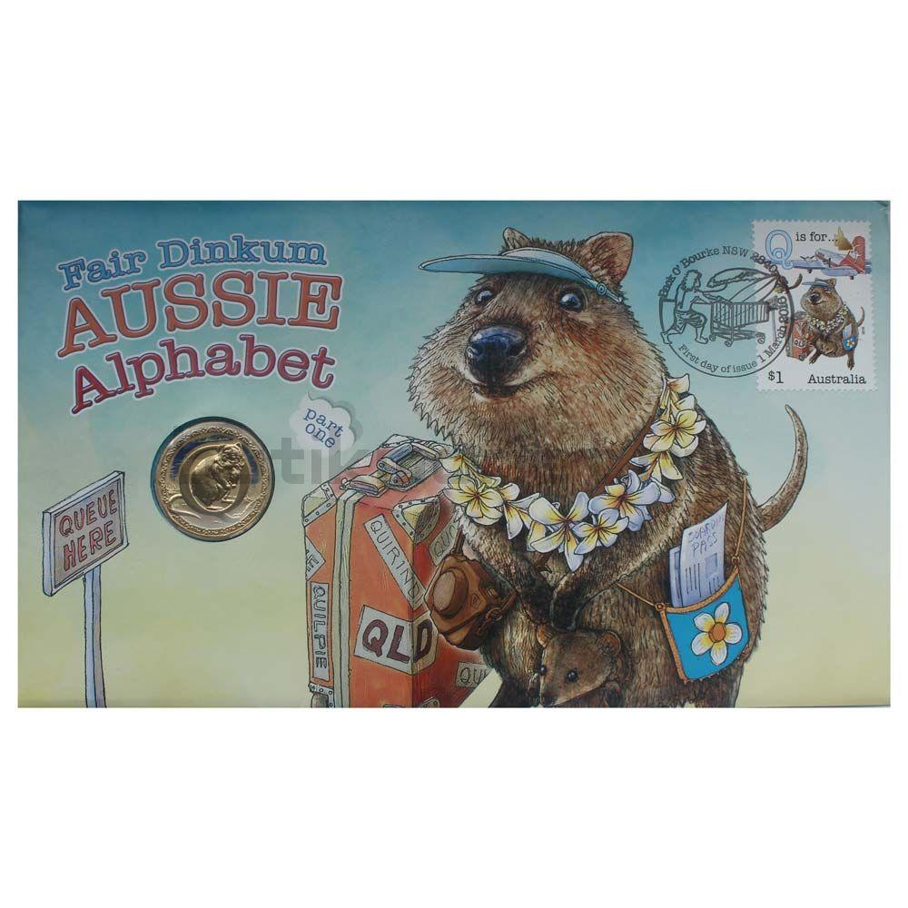 1 доллар 2016 Австралия Буква Q (Английский алфавит)