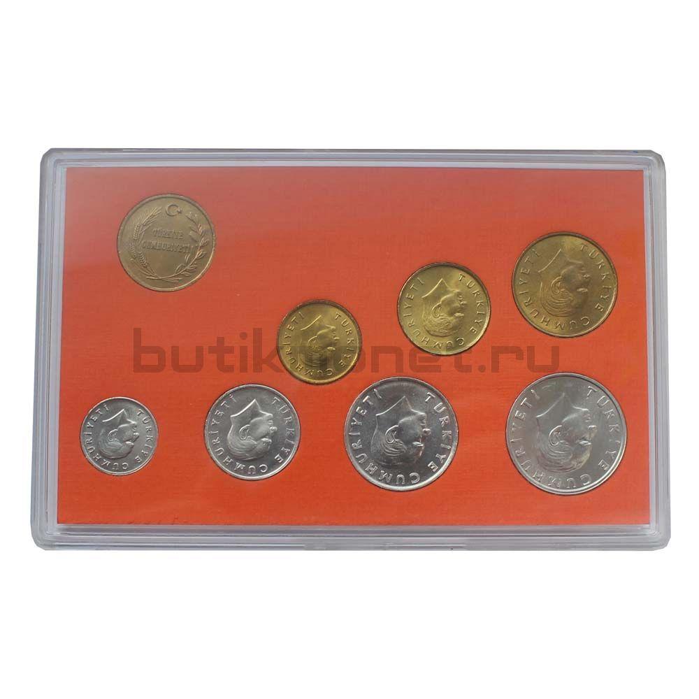 Годовой набор монет 1989 Турция (7 монет + 1 жетон) в буклете