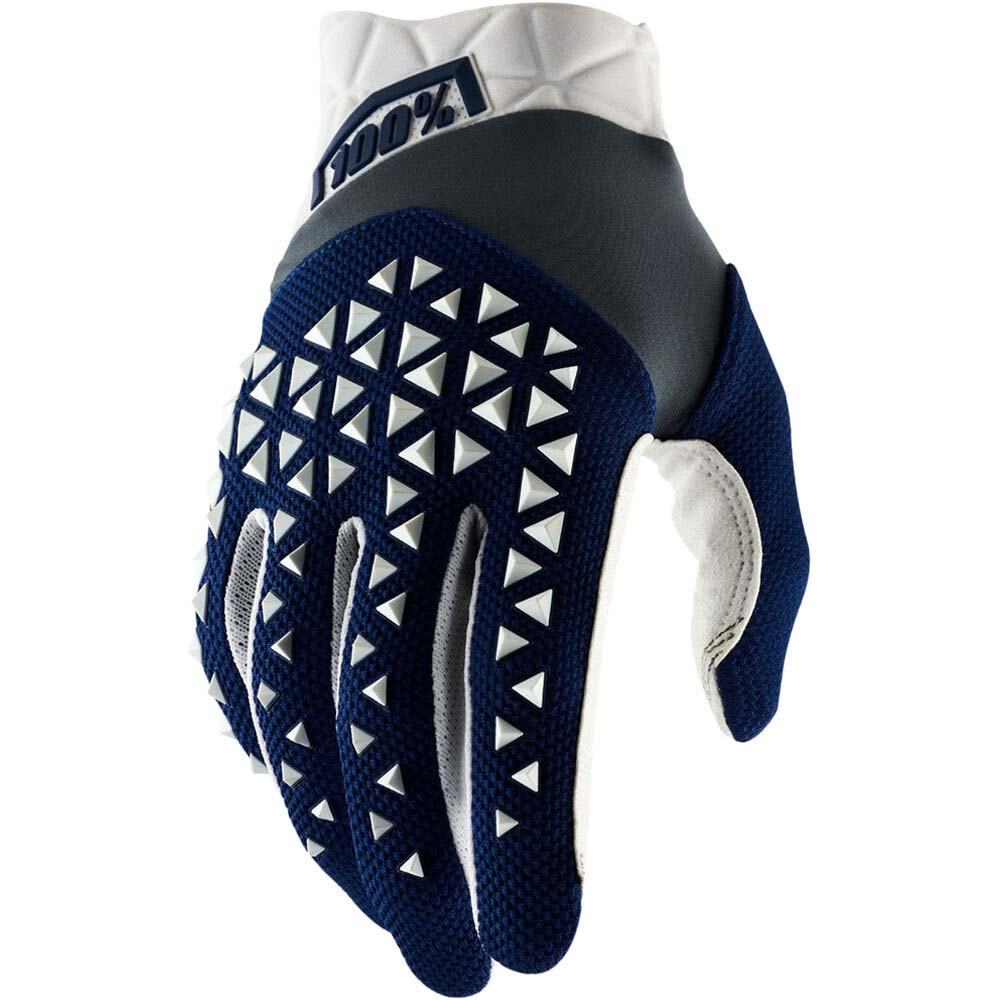 100% Airmatic Navy/Steel/White перчатки для мотокросса и эндуро