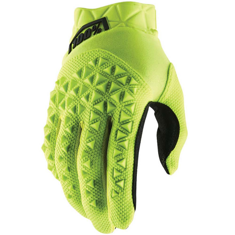 100% Airmatic Yellow/Black перчатки, желто-черные