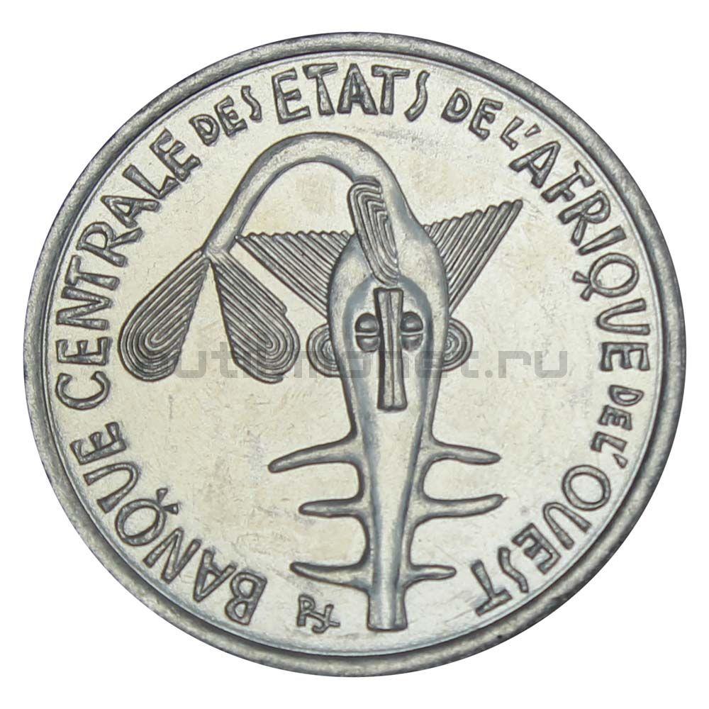 100 франков 2009 Западная Африка