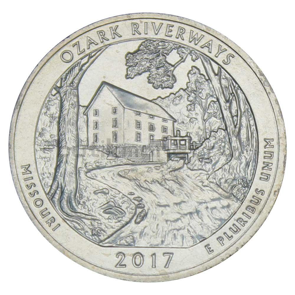 25 центов 2017 США Национальные водные пути Озарк S
