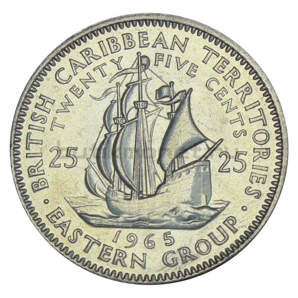 25 центов 1965 Восточные Карибы